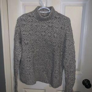 3//$35 AMERICAN EAGLE   MockTurtle NeckGraysweater
